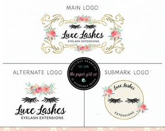 lashes logo design false lashes logo lash extensions logo beauty logo premade logo lash logo make-up artist logo premade beauty salon logo