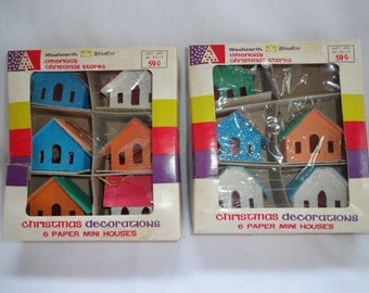 Christmas Houses 6 mini Houses from Woolworth