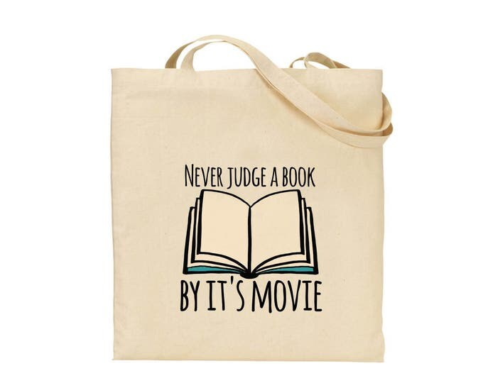 Dont judge a book by its movie quote tote | Tote bag | Shopper Bag, 100% cotton. Gift bag