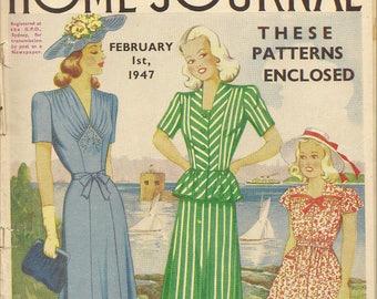 1940s Australian Home Journal Vintage Women's Magazine 1st February 1947