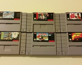 Super Nintendo Games Cleaned and tested!!! All Games Work Like New!!