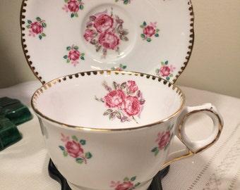 Tudor Rose Royal Stafford bone china teacup - made in england - tudor Rose - Royal Stafford - vintage teacup