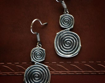 """Arm Root Handmade Silver Earrings  """"Collection ArmRoot"""" . Armenian Jewelry, Armenian Silver, Armenian Earrings, Eternity Armenian Gift"""