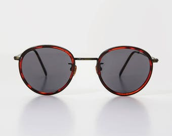 Round Tortoiseshell Distinguished Optical Quality Vintage Sunglass - RILEY