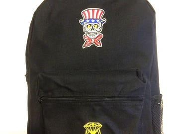 Skull Backpack Men Travel Rucksack  School Bag for Student Boys