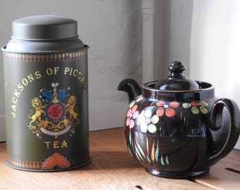 Jacksons of Piccadilly Tea tin/ Caddy