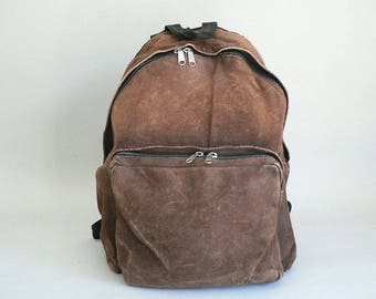 BrownLeather Backpack