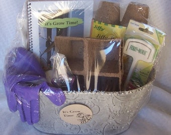 It's Grow Time Seed Starting Gift Basket