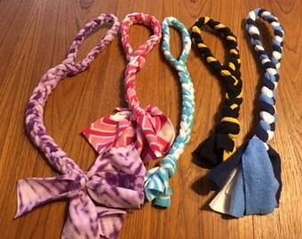 Handmade colorful fleece dog pull toy