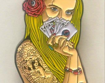 Ramble on Rose Pin - Blonde & Brunette Editions