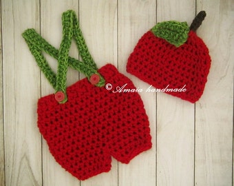 Baby apple costume, newborn apple costume, crochet apple costume, crochet apple hat, baby apple hat, baby apple outfit, halloween costume