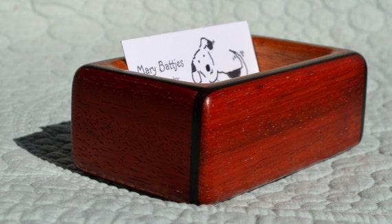 business card or guitar pick box created from padauk guitar. Black Bedroom Furniture Sets. Home Design Ideas