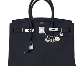 Breloque Palladium Silver Bag Charm Equestrian Bracelet