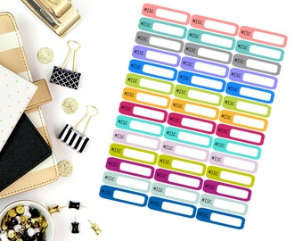 Misc Mini Label Stickers! Perfect for your Erin Condren Life Planner, calendar, Paper Plum, Filofax!