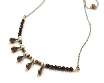 October Rain Garnet Necklace
