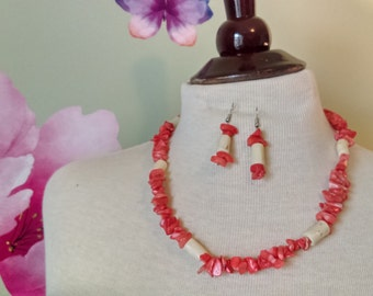 Orange African Stone Necklaces - 3 variations