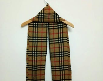 Burberrys Cashmere Scarf Nova Check Pattern,Vintage Burberrys Scarf,Burberrys Muffler,Burberrys Classic,Burberrys England