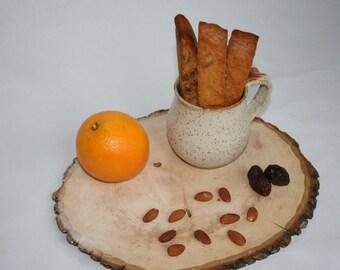 Almond-date biscotti