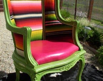 Cowgirl Chic Custom Serape French Arm Chair