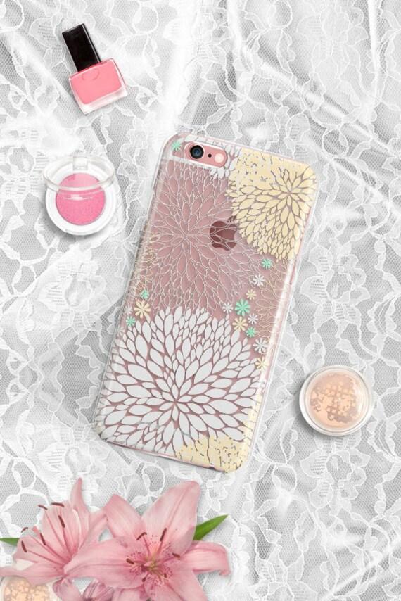 Floral iPhone 7 case Clear iPhone 7 Plus case Silicone iPhone 6 plus case Rubber iPhone 6s plus case iPhone se case Clear iPhone 6 Plus case