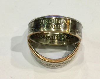 Virginia State Coin Ring