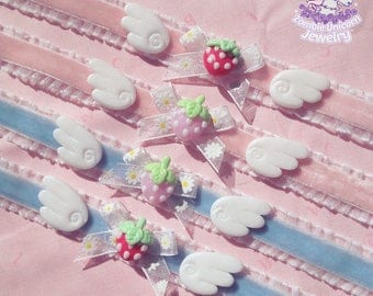 Strawberry angel OTT choker yumekawaii fairy kei