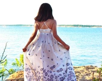Vintage Floral Summer Maxi Dress // Summer Dress // Maxi // Boho Dress // Bohemian // Floral dress // Maxi //