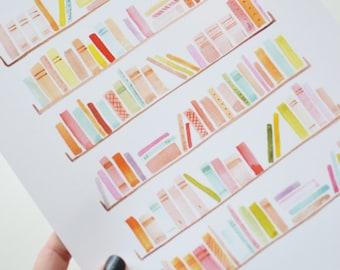 Bookshelves Art Print