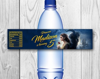 Beauty and the Beast Bottle Labels - Beauty and the Beast Water Label - Beauty and the Beast Printables - Belle labels