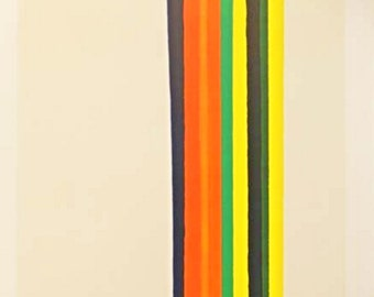 Morris Louis Color Line Original 1962 Lithograph