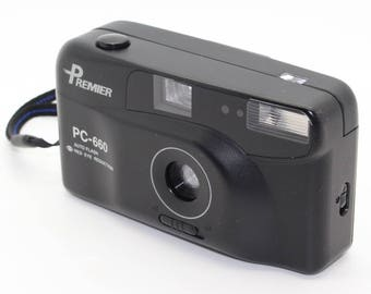 Premier PC-660 35mm Film Compact Point-and-Shoot Camera with instructions/case – VGC/Tested