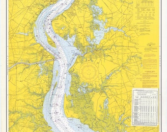 Delaware River Map - Smyrna River to Wilmington 1968