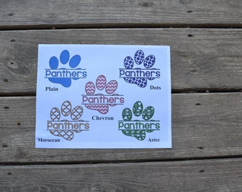 Spilt Paw Print Iron-On Vinyl Decal~ Glitter Iron-On Vinyl Decal~ Iron-On Vinyl Decal~Aztec~Dots~Plain~Chevron