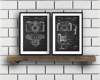 Camera Patent Prints, Camera Set of TWO, vintage Camera Invention Patent, Camera Poster, Camera Print, Camera, Camera Bag SP264