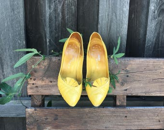 Vintage Yellow Pumps