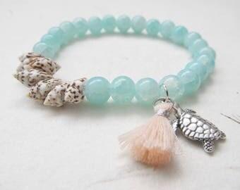 Summer bracelet, beach bracelet, tassel bracelet