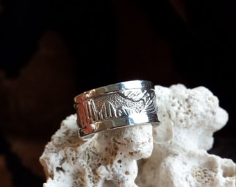 Sterling silver native American story teller ring