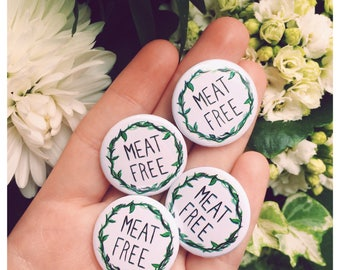 Meat Free Logo 25mm Button Badge