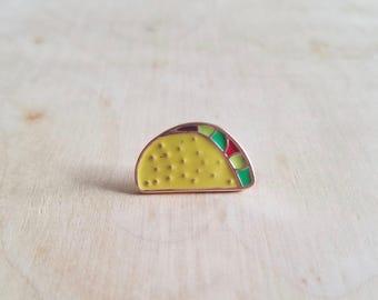 Tiny Taco Enamel Pin