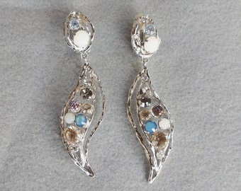 Daniel Swarovski Earrings Dangling Earrings Brilliant Rhinestones Vintage Jewelry