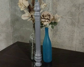 Upcycled Lamp Post decor
