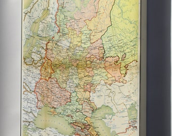 Canvas 24x36; 1928 Atlas Of The Soviet Union Merged