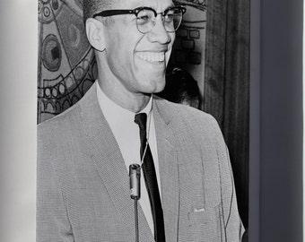 Canvas 24x36; Malcolm X 1964