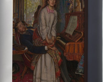 Canvas 24x36; The Awakening Conscience By William Holman Hunt