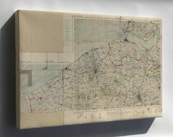 Canvas 24x36; Wwi Map Bruges Region, Belgium 1914 World War One