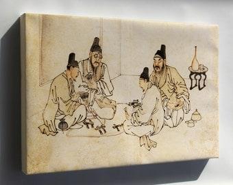 Canvas 16x24; Ancient Chinese Secret Gambling