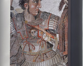 Canvas 16x24; Battle Of Issus Mosaic; Alexander The Great Mosaic