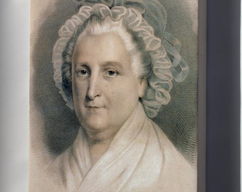 Canvas 16x24; Martha Washington By Currier And Ives