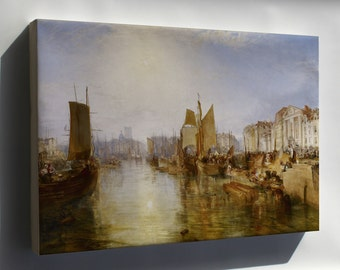 Canvas 16x24; Harbor Of Dieppe By Joseph Mallord William Turner