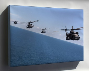 Canvas 16x24; Mh-53 Pave Low Helicopters From Hurlburt Field